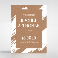 Rustic Brush Stroke save the date stationery card design