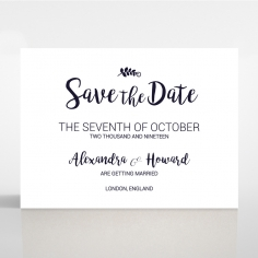 Rustic Lustre save the date wedding card