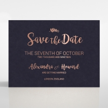 Rustic Lustre wedding save the date card design