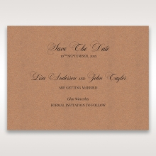 Rustic Romance Laser Cut Sleeve save the date card design