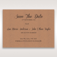 Rustic save the date stationery card