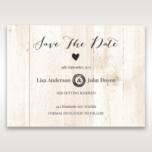 Rustic Woodlands wedding stationery save the date card