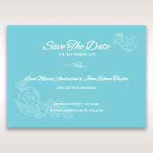 Seaside splendour save the date wedding card design