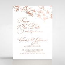 Secret Garden save the date invitation stationery card design