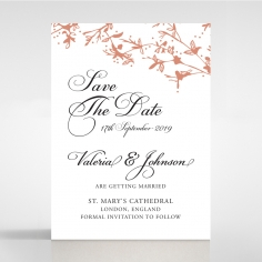 Secret Garden save the date wedding stationery card design
