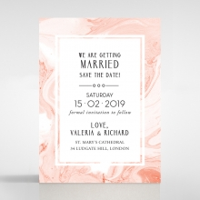 Serenity Marble save the date stationery card