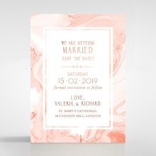 Serenity Marble save the date stationery card design