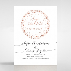 Star Dust wedding save the date card