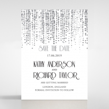 Star Shower save the date stationery card