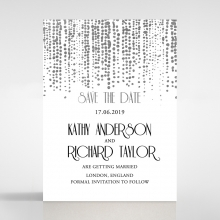 Star Shower save the date stationery card design