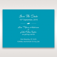 Stylish Laser cut Peacock Feather Digital save the date invitation card
