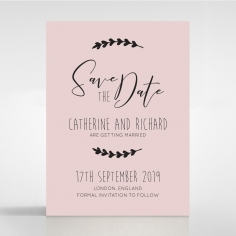 Sweet Romance wedding save the date stationery card