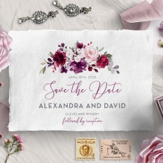 Their Fairy Tale wedding save the date card