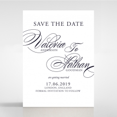 Timeless Romance save the date stationery card item