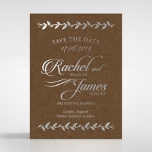 Unbroken Romance wedding save the date stationery card design