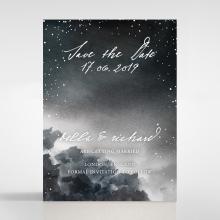 Under the Stars save the date invitation card design