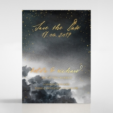 Under the Stars save the date invitation stationery card