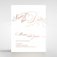 United as One save the date card design