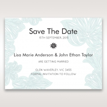 Vibrant Flowers wedding stationery save the date card design