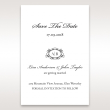 Victorian Charm save the date card