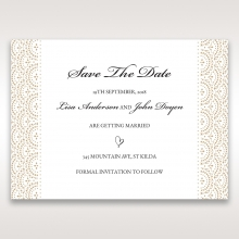 Vintage Lace Frame save the date card