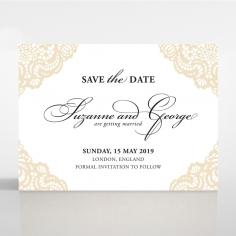 Vintage Prestige save the date card design