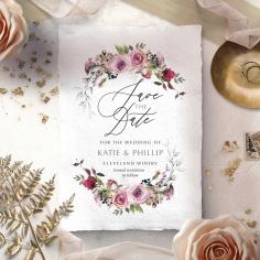 Watercolor Rose Garden save the date wedding card design