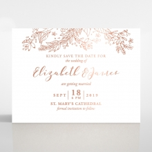 Whimsical Garland save the date wedding stationery card