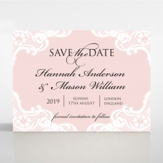 White Lace Drop save the date wedding card design