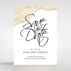 Woven Love Letterpress wedding save the date card