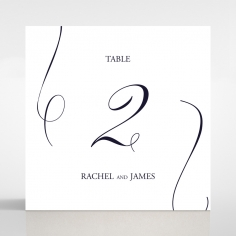 A Polished Affair wedding venue table number card stationery item