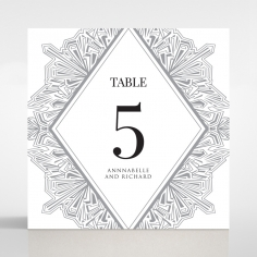 Ace of Spades wedding table number card stationery item