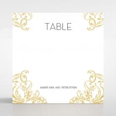 Aristocrat wedding venue table number card stationery item