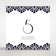 Art Deco Allure wedding table number card design