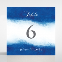 At Twilight wedding table number card