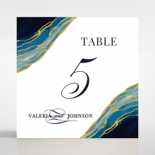 Blue Aurora reception table number card