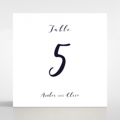 Bohemia wedding venue table number card