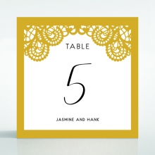 Breathtaking Baroque Foil Laser Cut wedding reception table number card stationery