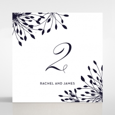 Bursting Bloom wedding venue table number card stationery