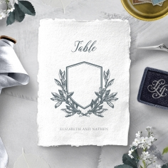 Castle Wedding wedding reception table number card stationery design
