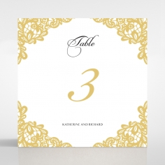Charming Lace Frame wedding table number card stationery