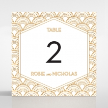 Contemporary Glamour wedding reception table number card