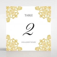Divine Damask table number card