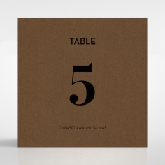 Dusted Glamour reception table number card