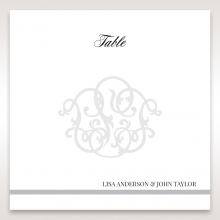 Elegant Seal reception table number card stationery design