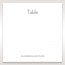 Embossed Date reception table number card stationery