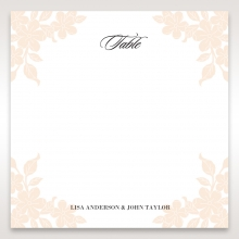 Embossed Floral Frame wedding venue table number card stationery design