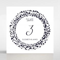 Enchanting Halo wedding reception table number card stationery design