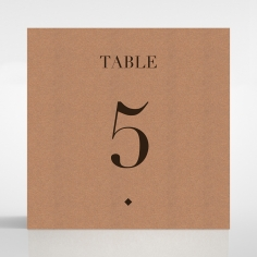 Enchanting Imprint wedding venue table number card stationery