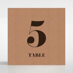 Etched Cork Letter wedding venue table number card